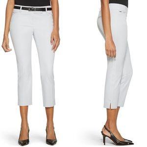 NWT WHBM White Premium Bi Stretch Crop Pants Sz 00